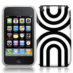 View Item iPhone 3GS / 3G Geometric Deco Series No2 Fashion Case Black & White