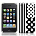 View Item iPhone 3GS / 3G Geometric Deco Series No3 Fashion Case Black & White