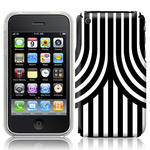 View Item iPhone 3GS / 3G Geometric Deco Series No4 Fashion Case Black & White
