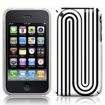 View Item iPhone 3GS / 3G Geometric Deco Series No5 Fashion Case Black & White