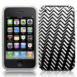 View Item iPhone 3GS / 3G Geometric Deco Series No6 Fashion Case Black & White