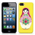 View Item iPhone 5 Novelty Russian Doll Fashion Case Yellow