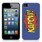 View Item iPhone 5 Kapow Comic Capers Case Purple/Orange/Yellow