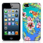 View Item iPhone 5 Hawaiian Print Totally Tropical Case Parrot With Blue And Green Vingette