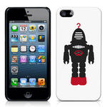 View Item iPhone 5 Vintage Retro Black Robot With Red Hook Hard Back Case