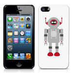 View Item iPhone 5 Vintage Retro Grey Robot With Red Antenna Hard Back Case