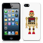 View Item iPhone 5 Vintage Retro Gold Robot With Red Hat Hard Back Case
