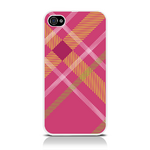 View Item iPhone 4S / 4 Totally Tartan Pink Fashion Case - Pink / Orange / Green / White