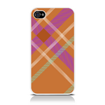 View Item iPhone 4S / 4 Totally Tartan Orange Fashion Case - Orange / Purple / White / Green