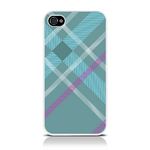 View Item iPhone 4S / 4 Totally Tartan Teal Fashion Case - Teal / Cyan / Purple / White