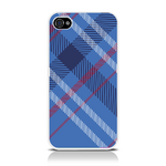 View Item iPhone 4S / 4 Totally Tartan Teal Fashion Case - Blue / Red / White