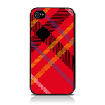 View Item iPhone 4S / 4 Totally Tartan Red Fashion Case - Red / Black / Yellow / White