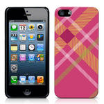 View Item iPhone 5 Totally Tartan Pink Fashion Case - Pink / Orange / Green / White