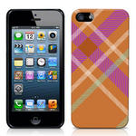 View Item iPhone 5 Totally Tartan Orange Fashion Case - Orange / Purple / White / Green
