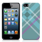 View Item iPhone 5 Totally Tartan Teal Fashion Case - Teal / Cyan / Purple / White