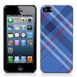 View Item iPhone 5 Totally Tartan Teal Fashion Case - Blue / Red / White