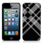 View Item iPhone 5 Totally Tartan Black Fashion Case - Black / White