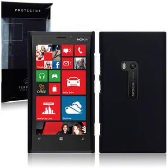 Nokia Lumia 920 Slim Armour Hard Cover - Solid Black Preview