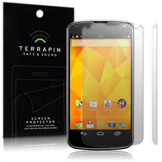 LG Google Nexus 4 Screen Protector Film Case Twin Pack By Terrapin Preview