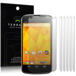 View Item LG Google Nexus 4 Screen Protector Film Case Six Pack By Terrapin