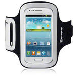View Item Samsung I8190 Galaxy S3 Mini Shocksock Reflective Sports Armband Holder - Black