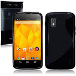 View Item LG Google Nexus 4 TPU Gel Skin Case - Solid Black