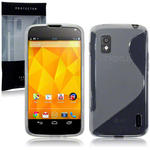 View Item LG Google Nexus 4 TPU Gel Skin Case -  Clear