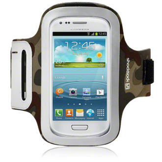 Samsung I8190 Galaxy S3 Mini Shocksock Reflective Sports Armband Holder - Camo Preview