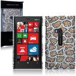 View Item Nokia Lumia 920 Diamante Case Leopard Spots