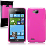 View Item Samsung Ativ S I8750 Gel Skin Case - Solid Hot Pink