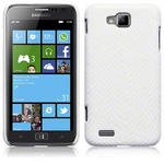 View Item Samsung Ativ S I8750 Covert Pu Leather Snap On Case - White Snakeskin