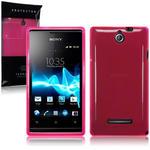 View Item Sony Xperia E TPU Gel Skin Case - Hot Pink