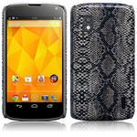 View Item Google Nexus 4 Covert Pu Leather Snap On Case - Snakeskin