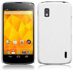 View Item Google Nexus 4 Covert Pu Leather Snap On Case - White Snakeskin