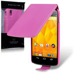 View Item Google Nexus 4 PU Leather Flip Case - Hot Pink