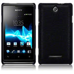 View Item Sony Xperia E Covert Pu Leather Snap On Case - Black