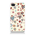 View Item Call Candy Cross My Heart Case for iPhone 4S/4 / Cream/Multi-colour