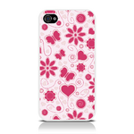 View Item Call Candy Flower Girl Case for iPhone 4S/4 / Light Pink/Pink