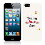 View Item Call Candy Bee My Love Dove Case for iPhone 5 / Cream/Black/Red