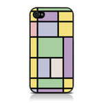 View Item Call Candy Pastel Linear Hard Back Case for iPhone 4 / Multicoloured