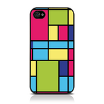 View Item Call Candy Zesty Linear Hard Back Case for iPhone 4 / Multicoloured