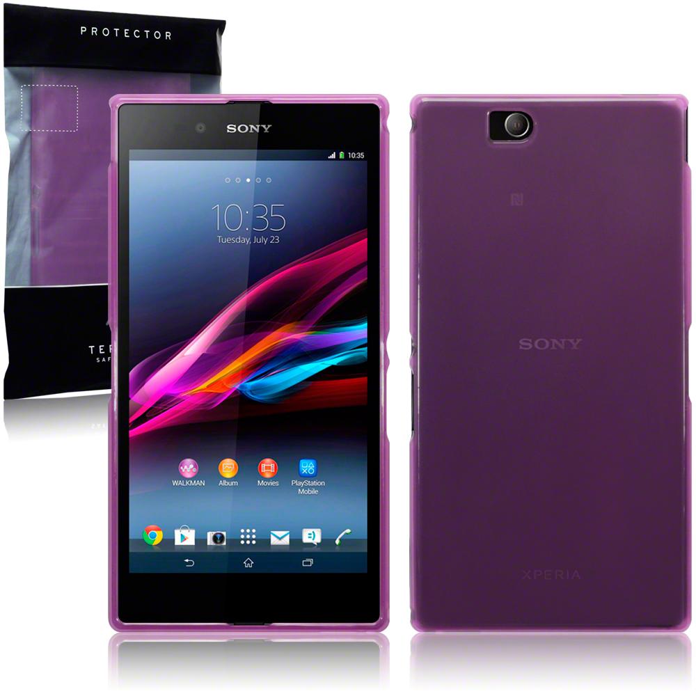 Purple TPU Gel Case / Cover for Sony Xperia Z Ultra | eBay