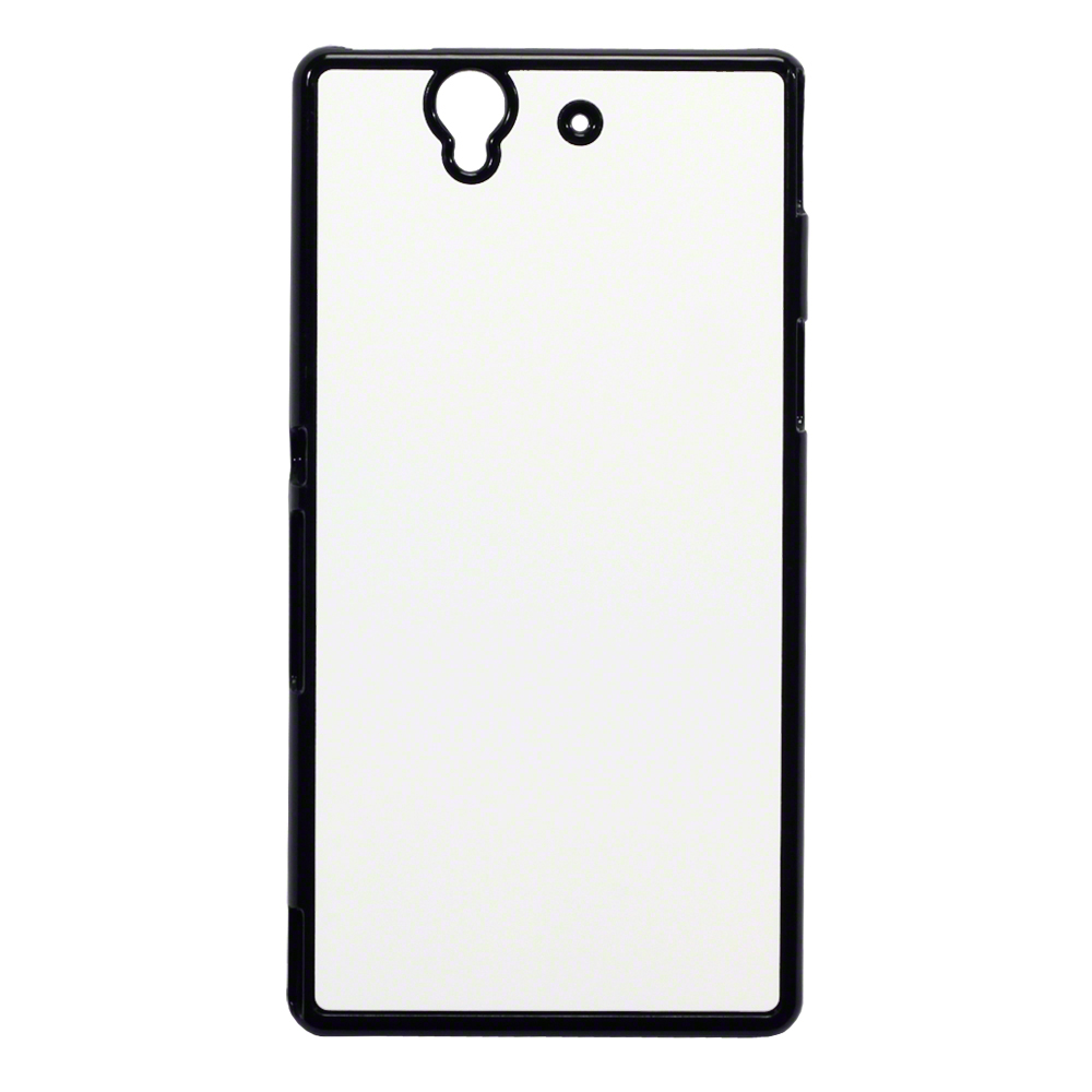 Blank Plastic Metal Back Sublimation Printing Case For Sony Xperia Z
