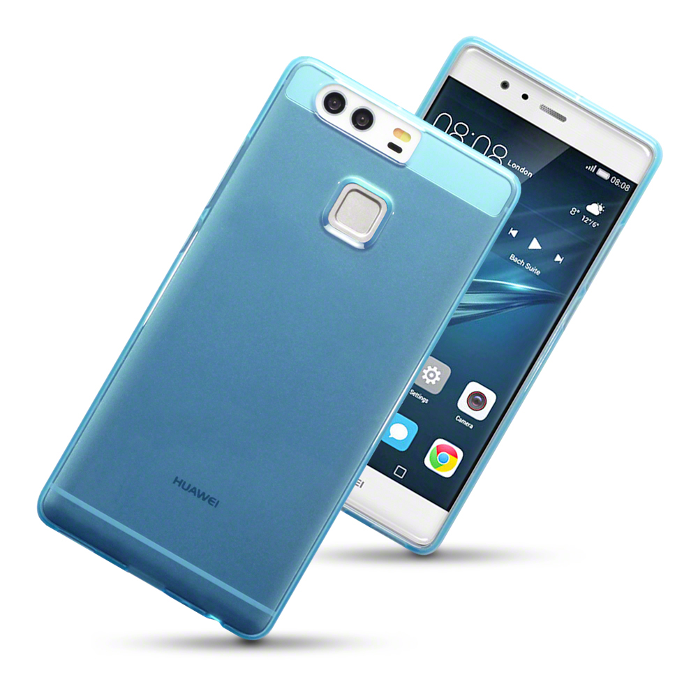 Details about Rubber Jelly Cover Case for Huawei P9 - Blue