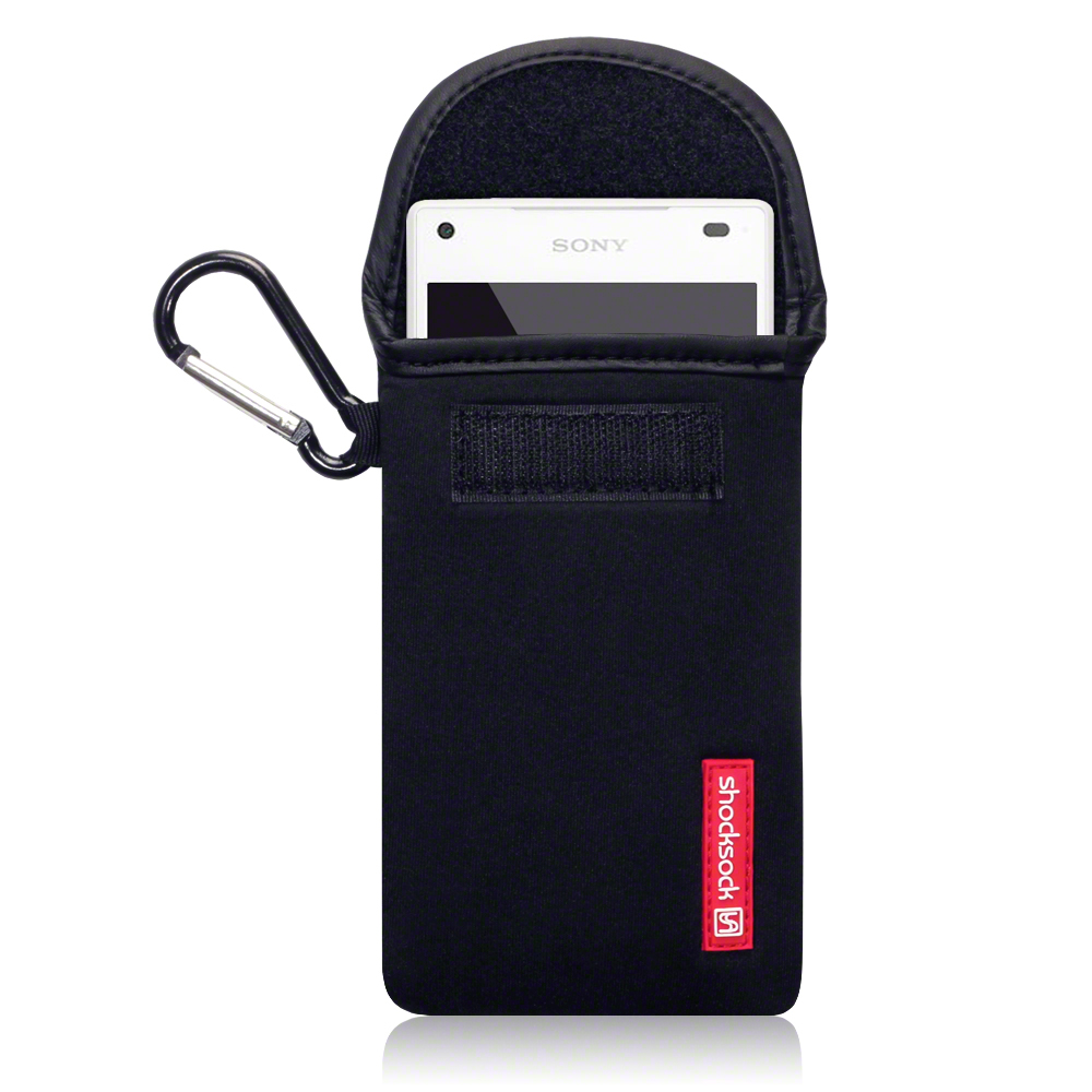 The Zillion shocksock sony xperia x neoprene carry case black not any kind
