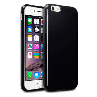 Terrapin - Apple iPhone 6 (4.7 Inch) TPU Gel Skin Case / Cover - Solid Black Preview