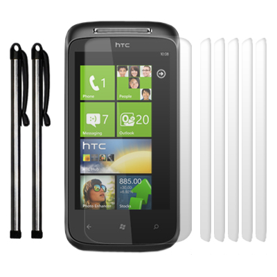 TOUCHSCREEN PACK FOR HTC 7 MOZART - SILVER