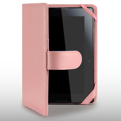 FOLIO STYLE PU CASE FOR BLACKBERRY PLAYBOOK LIGHT PINK