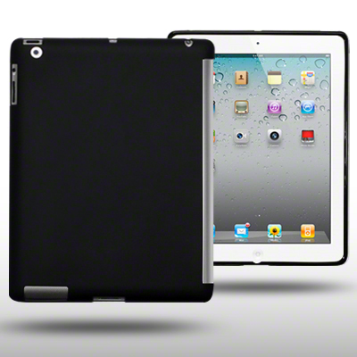 GEL CASE COMPATIBLE WITH SMART COVER FOR IPAD 2 BLACK