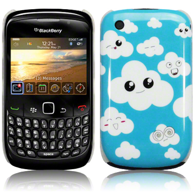 TERRAPIN BLUE CLOUD CASE FOR BLACKBERRY 8520 9300 CURVE